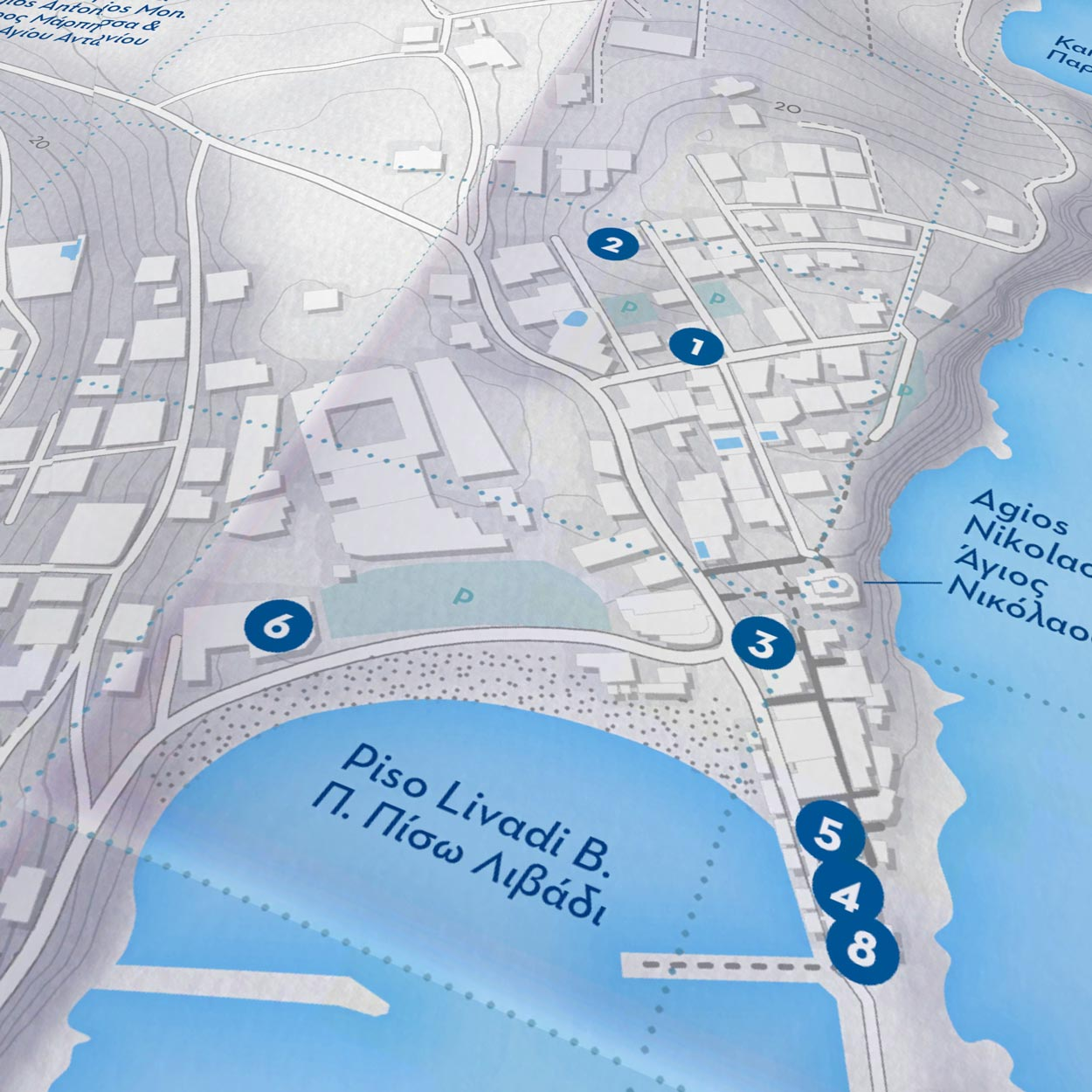 Paros Island | Paper Map | Side A
