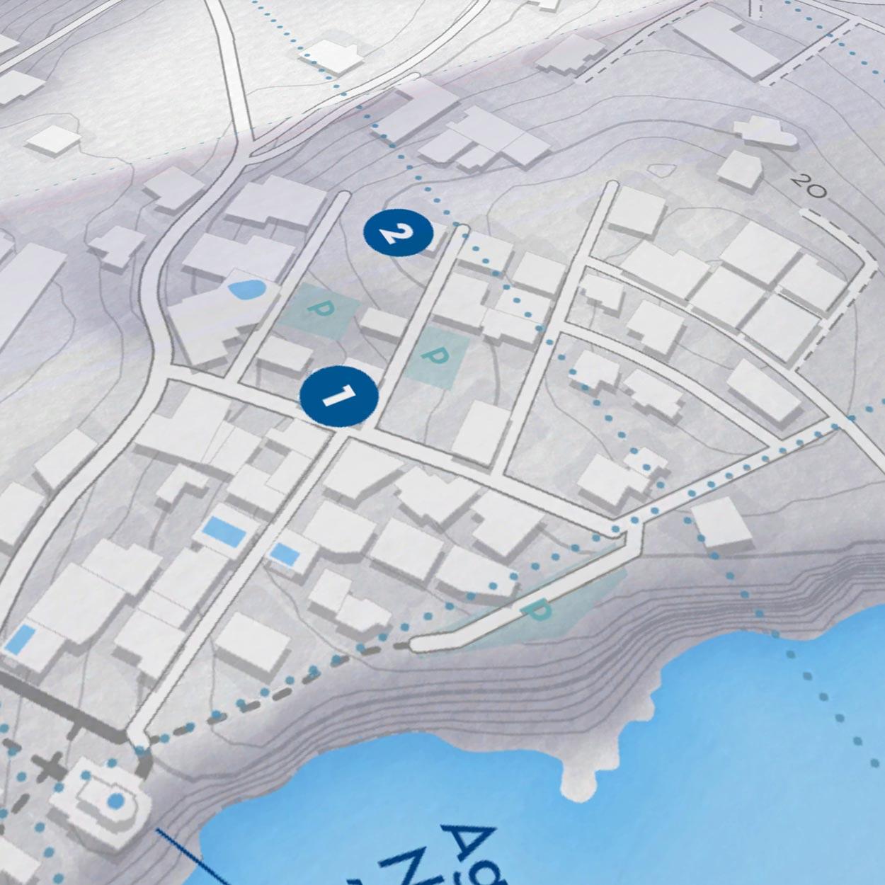 Paros Island   Paper Map   Side A