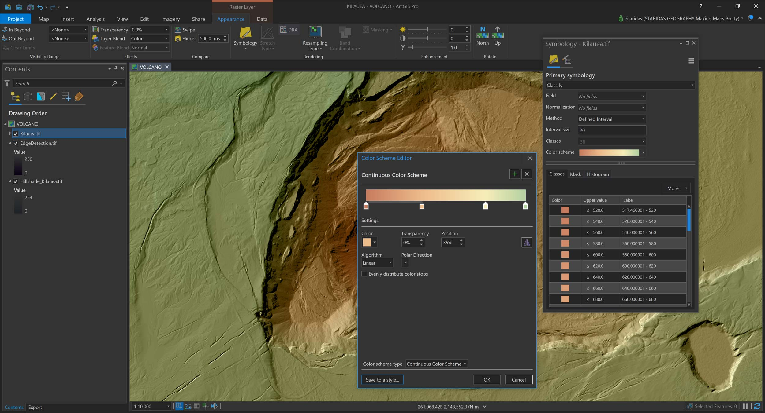 Picture 16: Rendering the Kilauea DEM itself to add color.