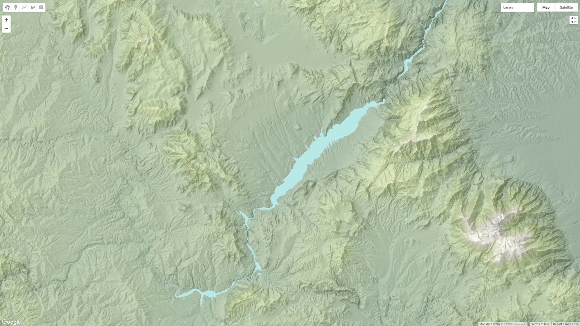 Picture 3: Adding water bodies on the terrain.