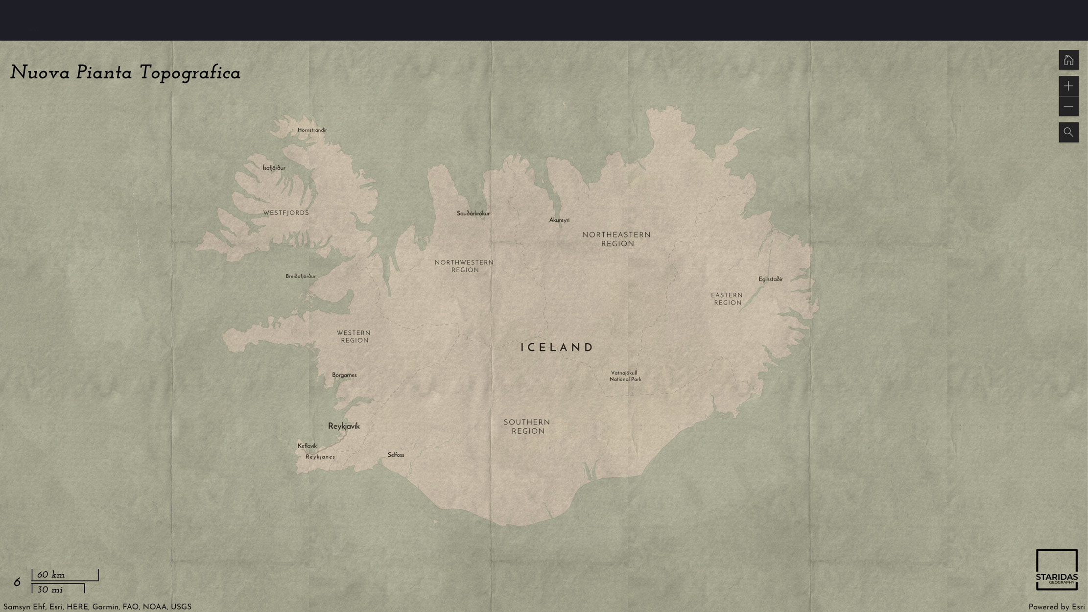 Picture 5: Combining paper texture styles on top of the custom vector basemap (mind-blowing).