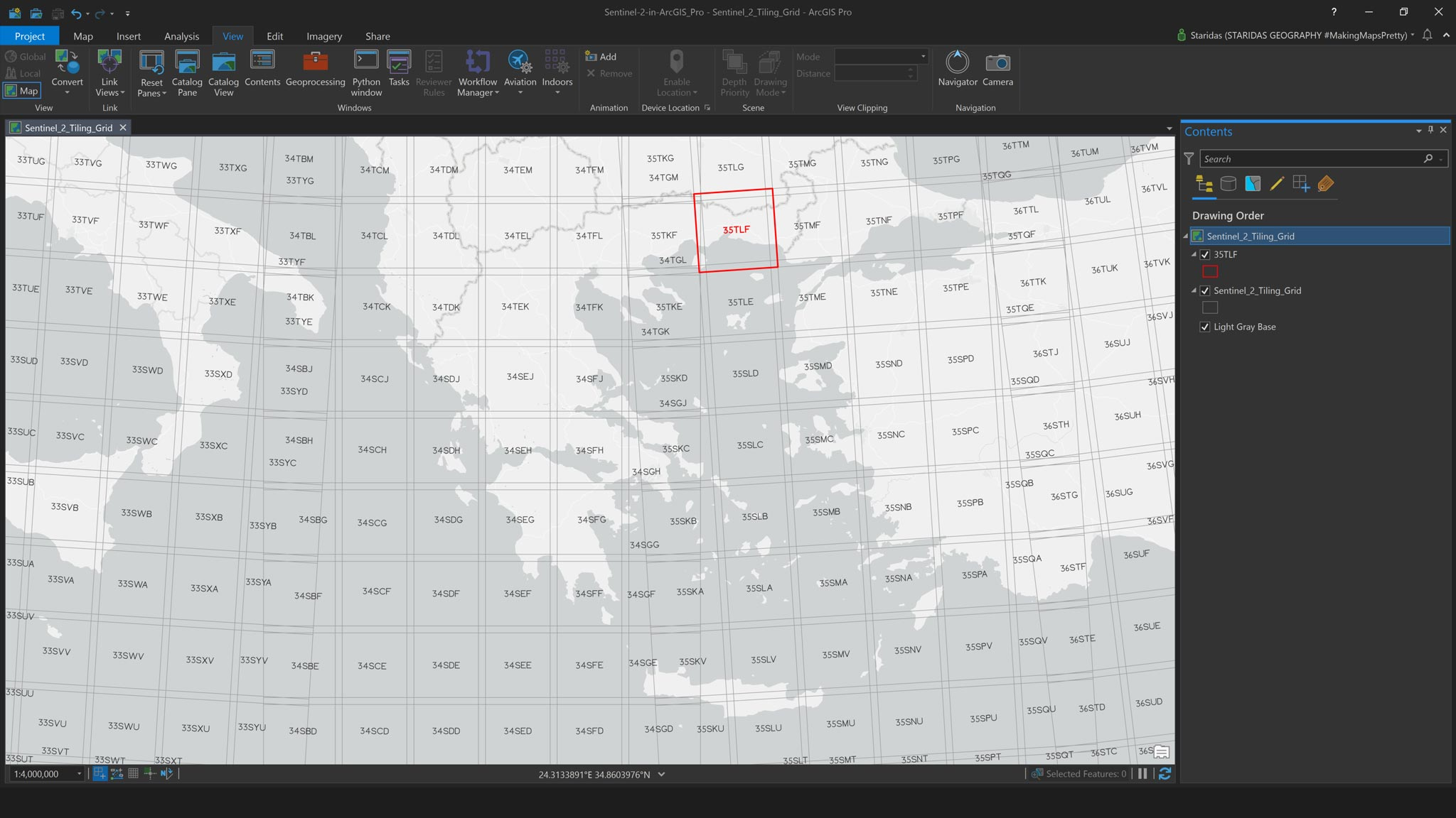 Picture 1: The Sentinel-2 Tiling Grid.