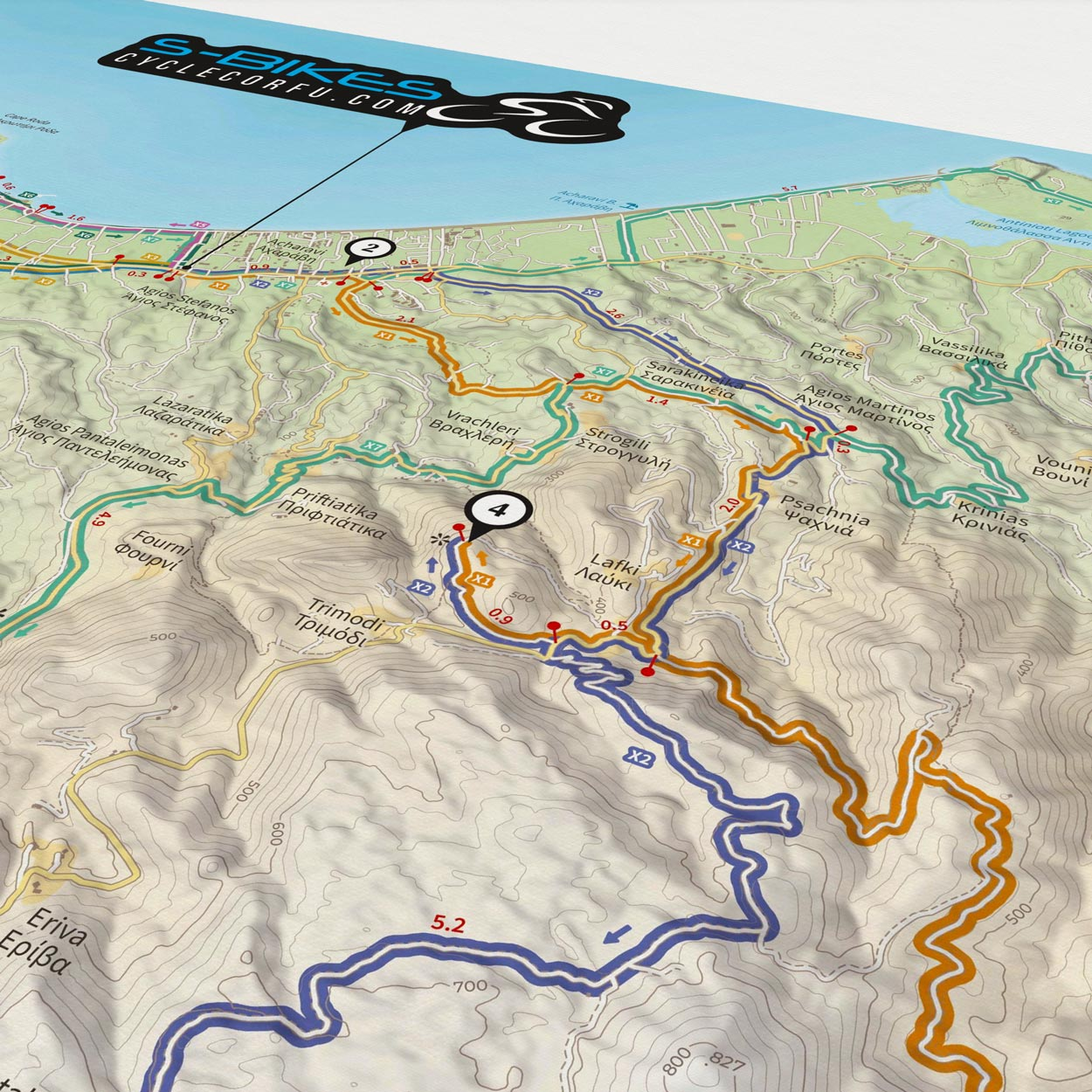 S-Bikes Cycle Corfu - Off Road Routes