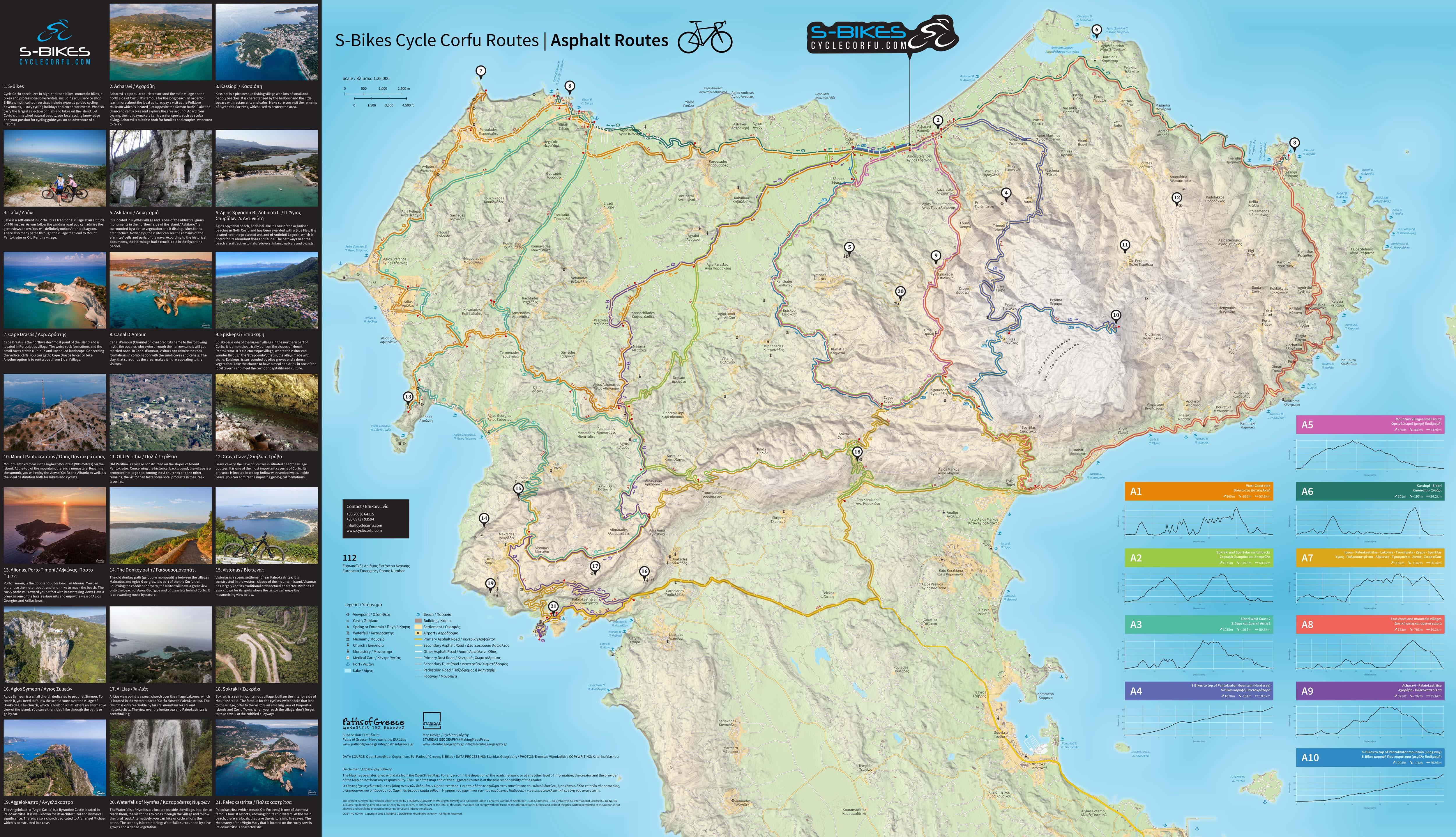 S-Bikes Cycle Corfu - Asphalt Routes